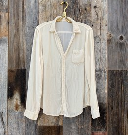 CP Shades CP Shades Velvet Sloane Button Up - Ivory