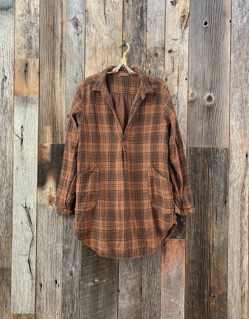 CP Shades CP Shades Double Cotton Teton Flannel Top - 517 Pluot