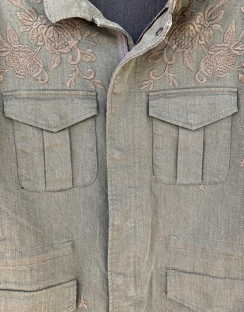 Johnny Was Johnny Was Zhenya Paris Drawstring Military Jacket - Shadow
