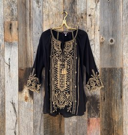 Johnny Was Johnny Was Luana Peasant Blouse - Black