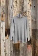 Lilla P Lilla P Oversized Turtleneck Sweater - Heather Grey