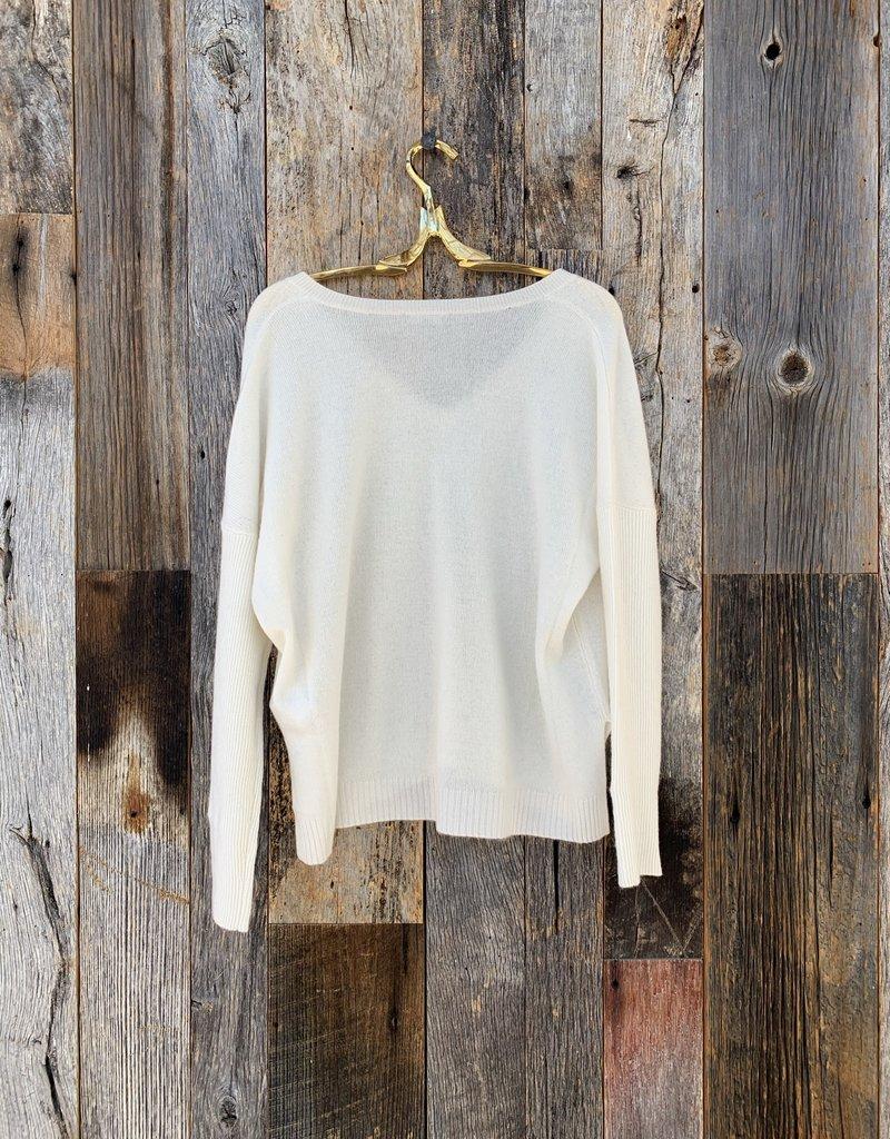 Lilla P Lilla P Oversized V-Neck Sweater - Ivory