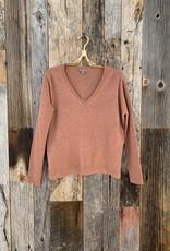 Lilla P Lilla P Oversized V-Neck Sweater - Maple