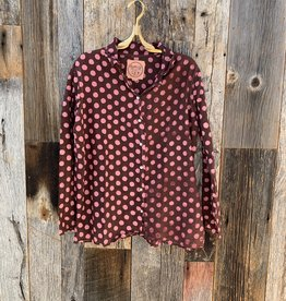 Auntie Oti Auntie Oti Polka Dot Button Down Shirt - Pink/Brown