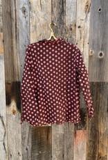 Auntie Oti Auntie Oti Polka Dot Button Down Shirt - Pink/Brown