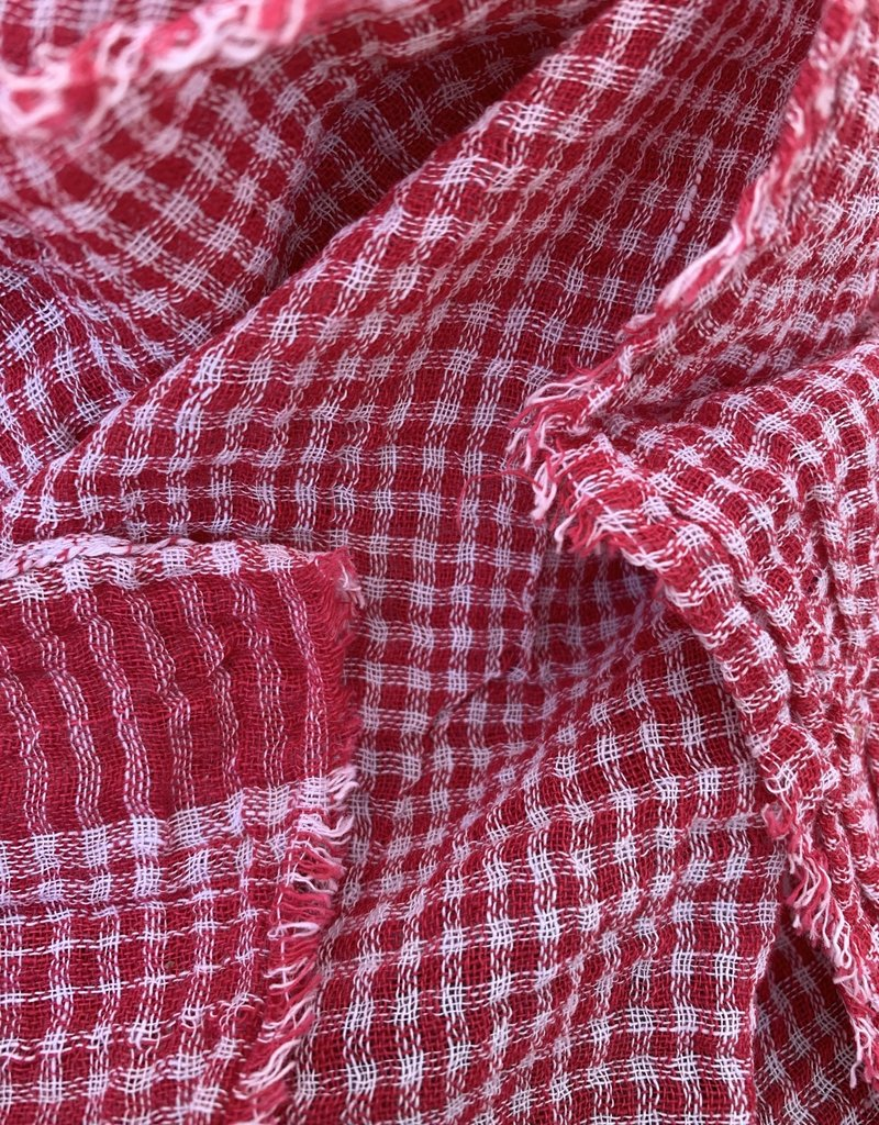 Auntie Oti Auntie Oti Gingham Scarf - Red