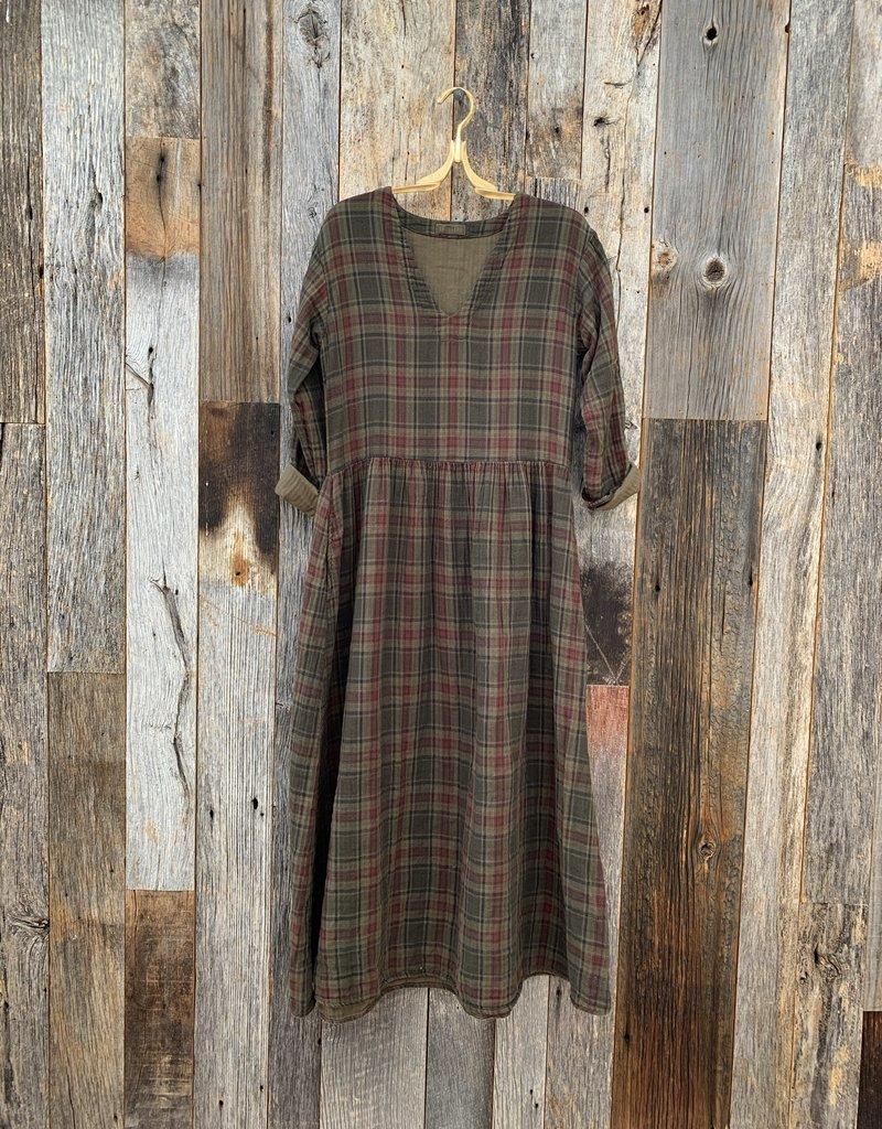 CP Shades CP Shades Amanda Double Cotton Plaid Dress - 516 - Algae