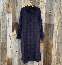 CP Shades CP Shades Maxi Double Cotton Plaid Dress - 518 - Lava
