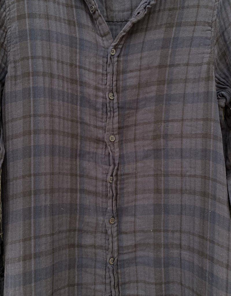 CP Shades CP Shades Maxi Double Cotton Plaid Dress - 518 - Lava