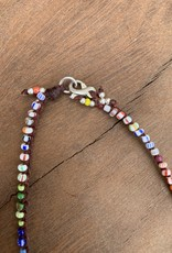 Minetta Design N-RAINBOW Necklace - Mix Trade Bead with Star Pendent