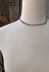 Minetta Design NAA Necklace - Silver with White Heart Beads