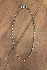 Minetta Design NALI Necklace - Turquoise on Chocolate