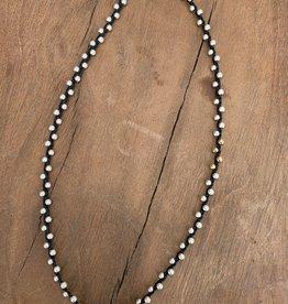Minetta Design NH Necklace - Silver & Gold on Black