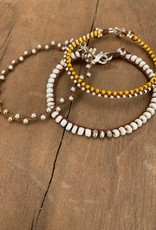Minetta Design BH Bracelet - Silver & Gold on Chocolate
