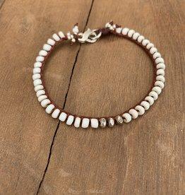 Minetta Design BSR WHITE Bracelet- White with Pecos