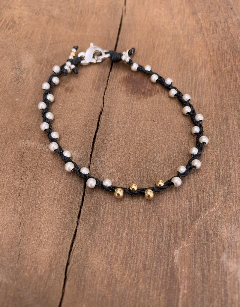 Minetta Design BH Bracelet - Silver & Gold on Black