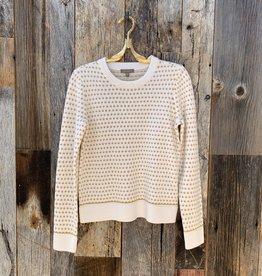 Lilla P Lilla P Jacquard Crewneck Sweater - Ivory Jacquard