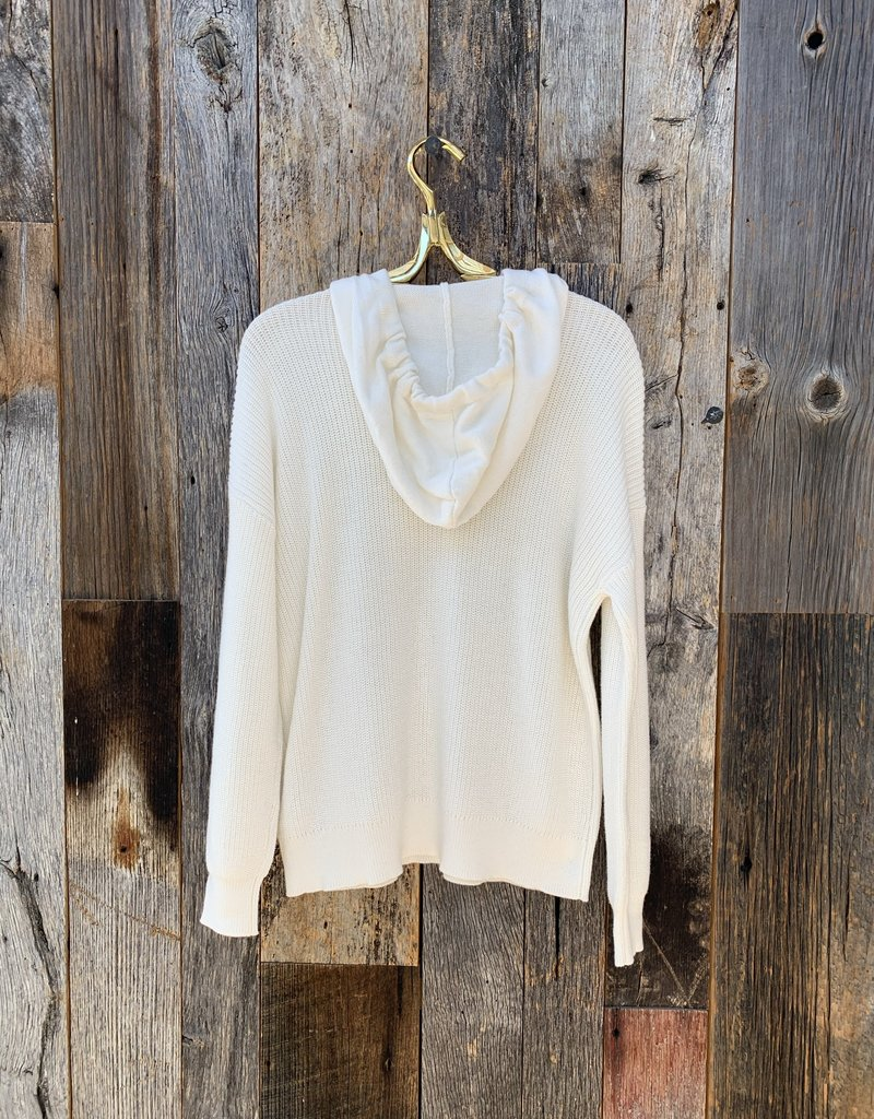 Lilla P Lilla P Easy Hoodie Sweater - Starch