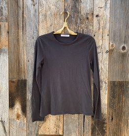 Perfect White Tee Dylan Long-sleeved Crew - Vintage Black
