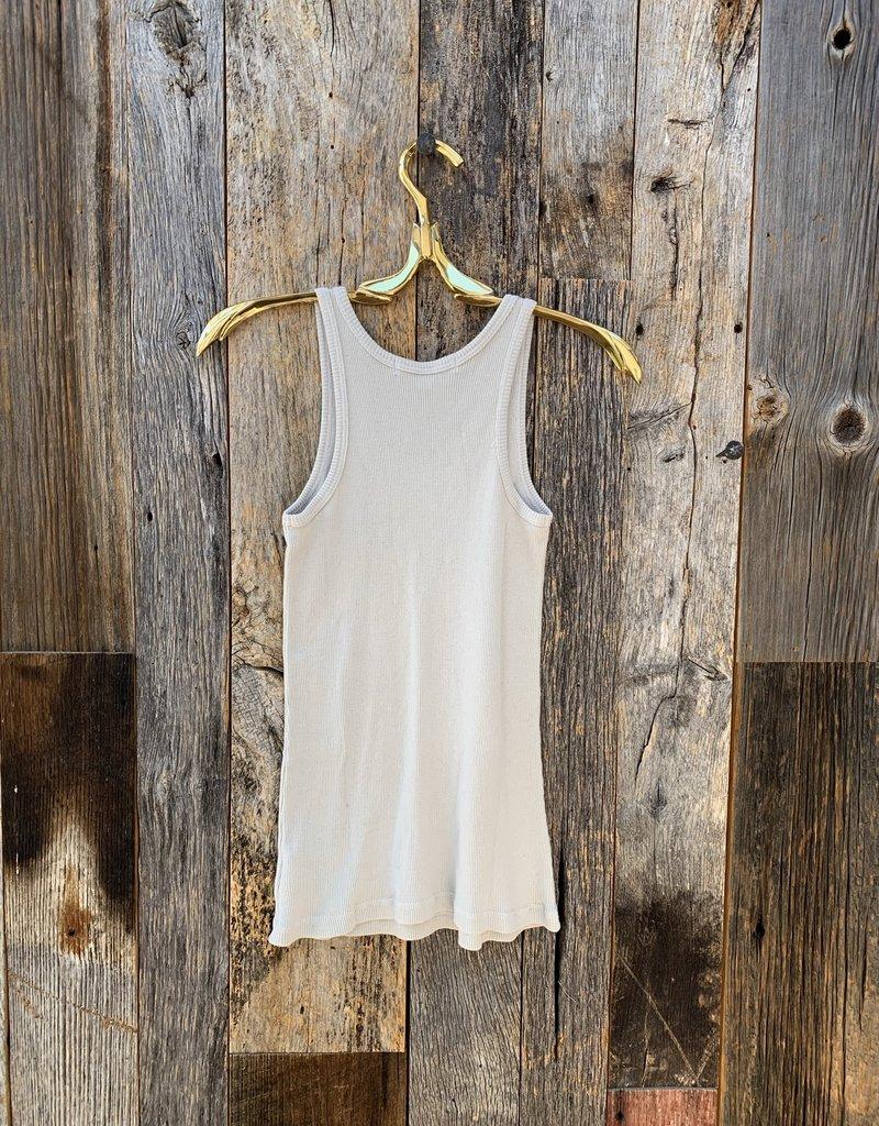 Perfect White Tee Layering Tank - Pearl Grey
