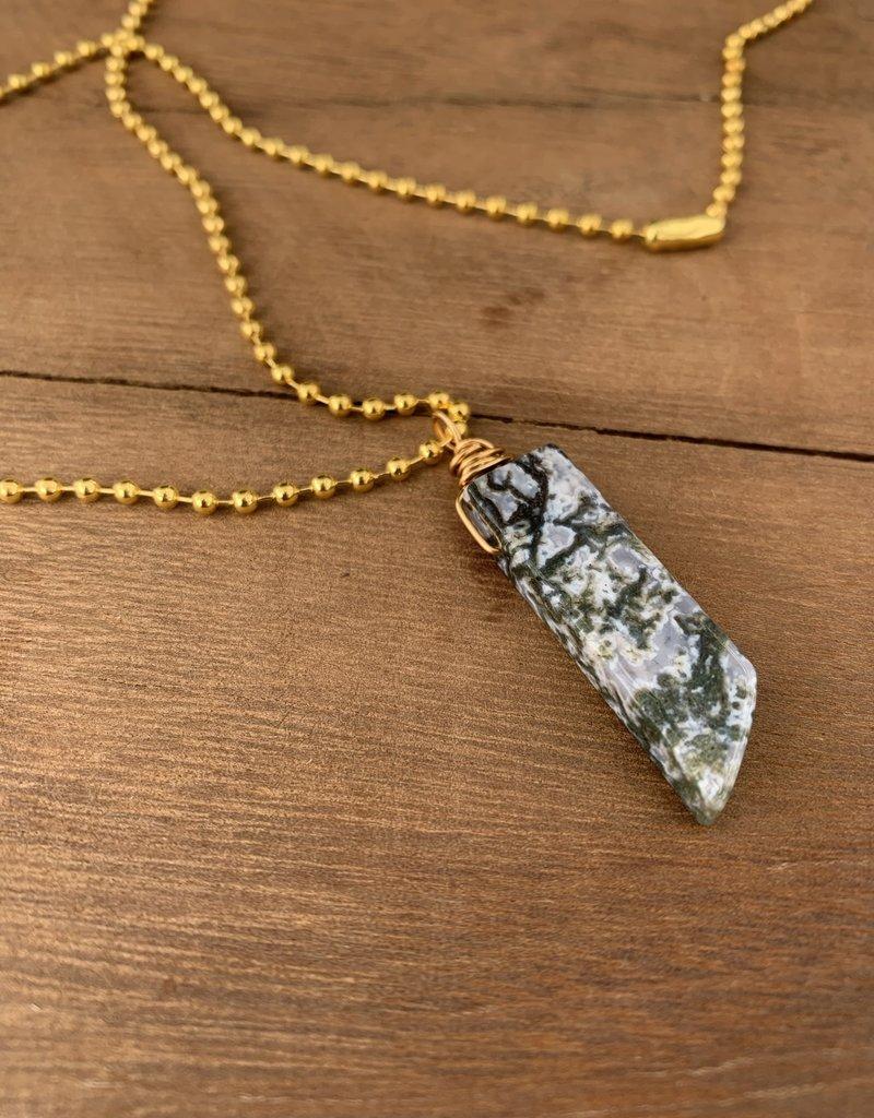 Leap Jewelry Necklace - Wrapped Jasper 004