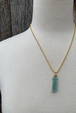 Leap Jewelry Necklace - Wrapped Amazonite 001