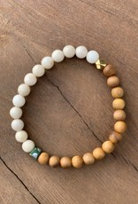 Leap Jewelry Bracelet - Cedarwood and Riverstone 001