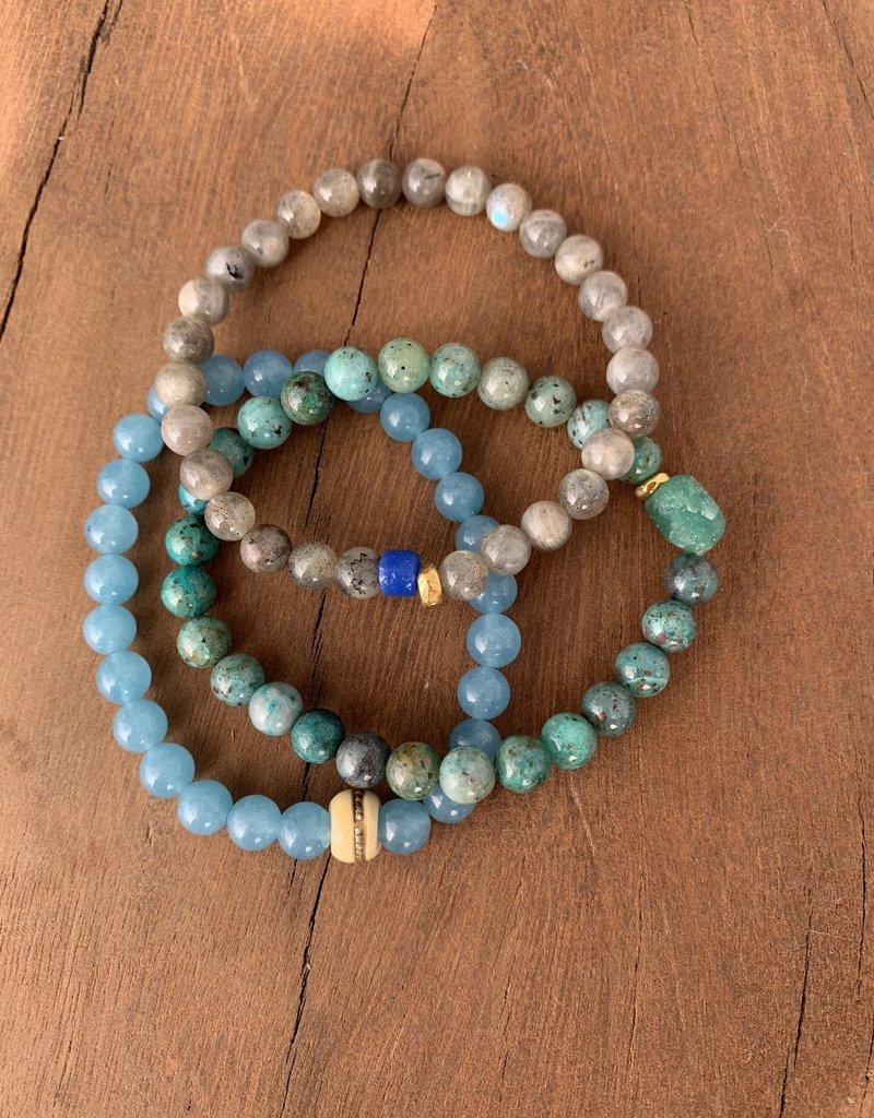 Leap Jewelry Bracelet - Blue Sponge Quartz 001