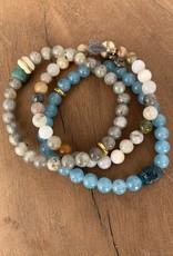 Leap Jewelry Bracelet - Blue Sponge Quartz 002