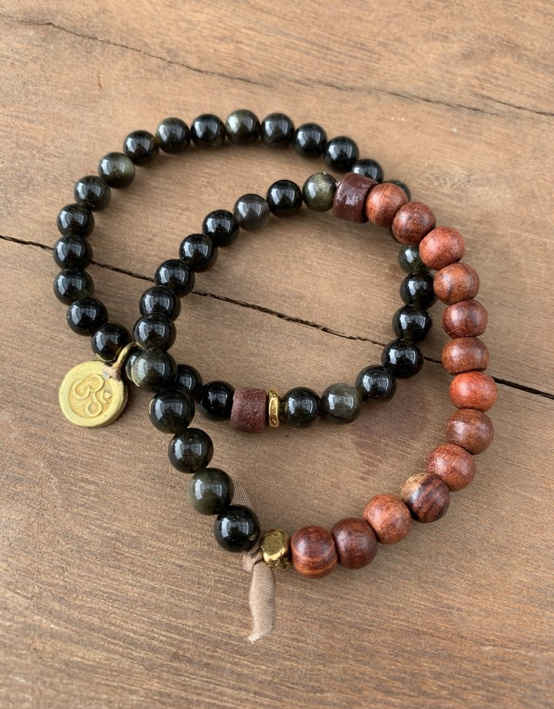 Leap Jewelry Bracelet - Obsidian 002