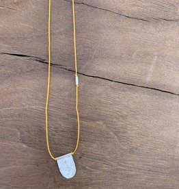 River Song Jewelry River Song Necklace 5-3W SS Mustard