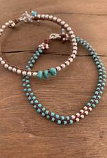 Minetta Design BDR Bracelet - Turquoise on Sienna