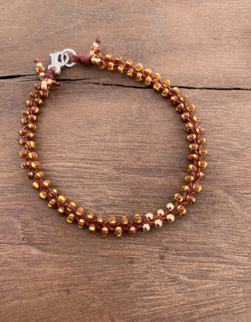 Minetta Design BDR Bracelet - Rust & Yellow with Gold