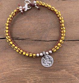 Minetta Design BSR Bracelet - Yellow Stripe with Silver