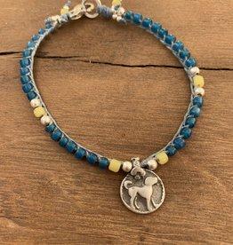 Minetta Design BSR Bracelet - African Blue with Dog