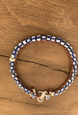 Minetta Design BSR Bracelet - Blue White Stripe