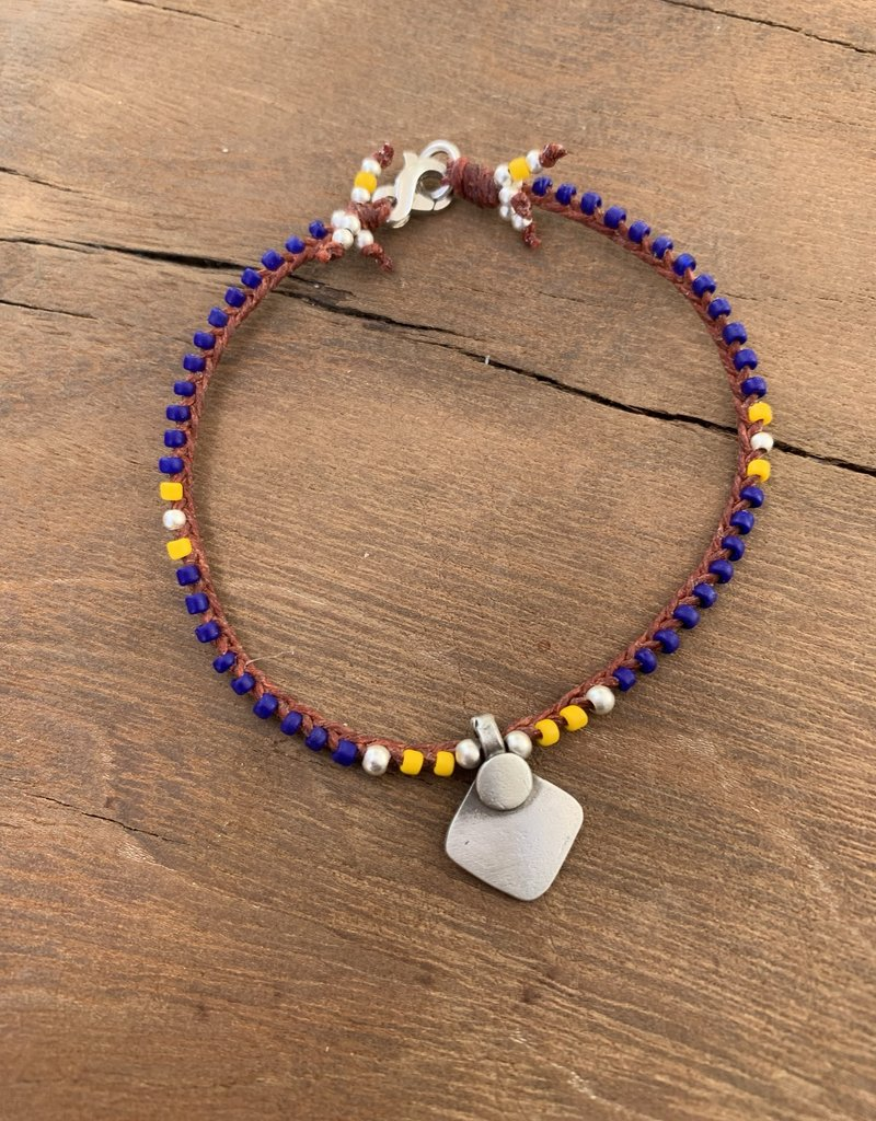 Minetta Design BSR Bracelet - Navy & Yellow with Tika