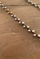 Minetta Design NH Necklace - Silver & Gold on Walnut