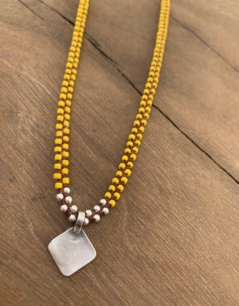 Minetta Design NDR Necklace - Yellow & Silver on Sienna