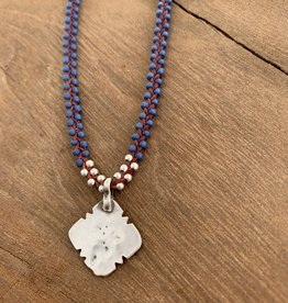 Minetta Design NDR Necklace - Blue & Silver on Sienna
