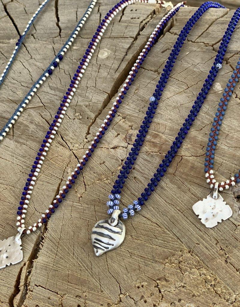 Minetta Design NDR Necklace - Blue & Silver on Sienna