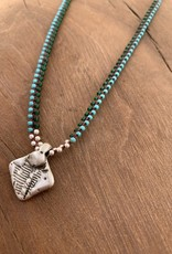 Minetta Design NDR Necklace - Turquoise & Forest Green on Sienna