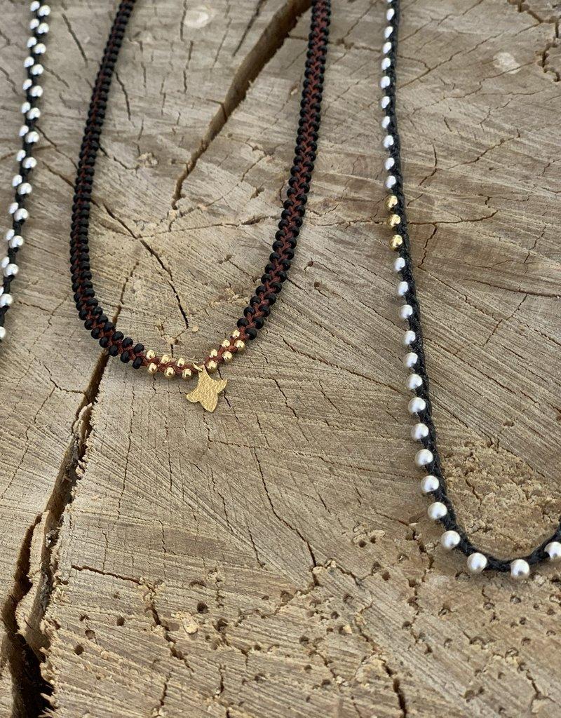 Minetta Design NDR Necklace - Gold on Black