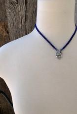 Minetta Design NDR Necklace - Navy on Blue