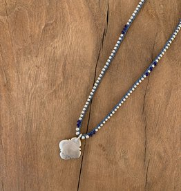 Minetta Design NSR Necklace - Silver on Blue