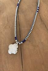 Minetta Design NSR Necklace - Silver on Blue