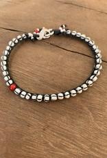 Minetta Design BSR Bracelet - White with Black Stripe on Black
