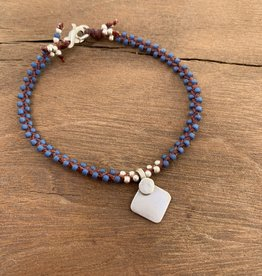 Minetta Design BDR Bracelet - Blue with Tika on Sienna