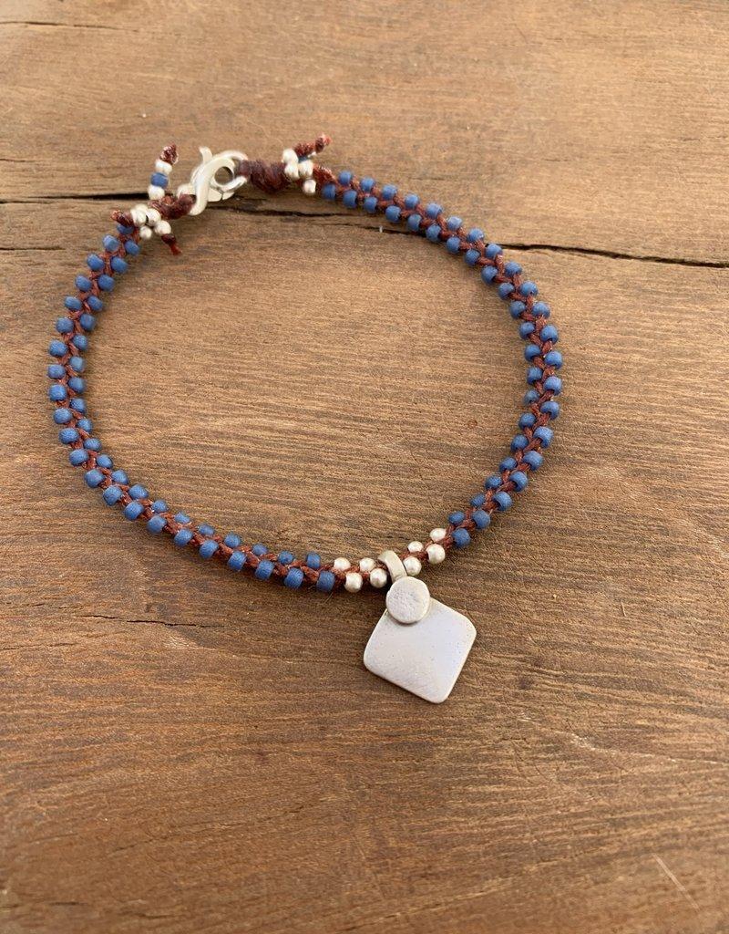 Minetta Design BDR Bracelet - Blue with Tika on Sienna