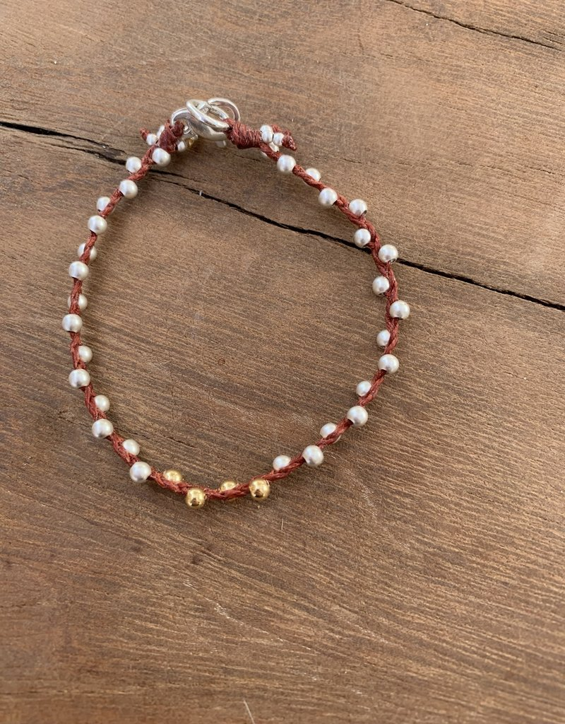 Minetta Design BH Bracelet - Silver & Gold on Sienna